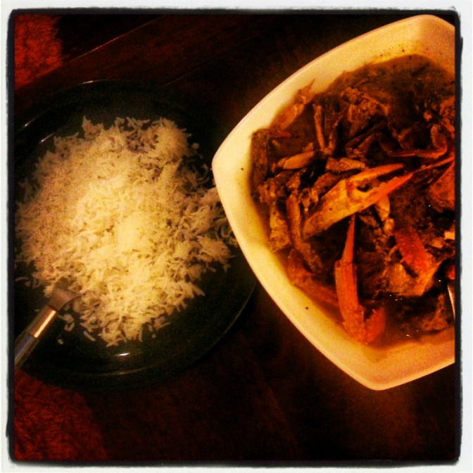Cooking For One..A Bachelor's Guide To Good Food – Goan Crab Xec Xec Curry